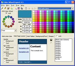 Click to view Color Wheel Expert 4.5 screenshot